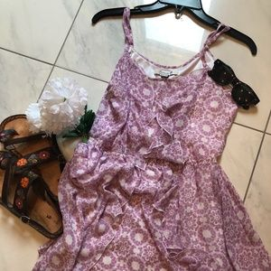 Forever 21 Pink and White Chiffon Dress